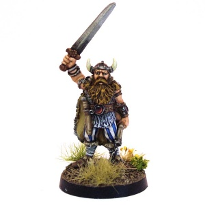Barbarian with Sword and Morningstar