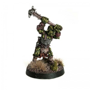 Orc with Raised Hammer