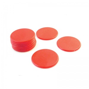 10x Red Counters - 38mm diameter