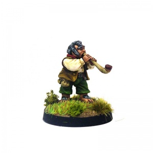 Halfling with Large Smoking Pipe