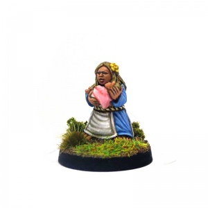 Halfling Mother with Baby