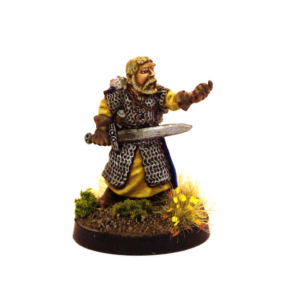 Taunting Fighter With Sword And Dagger