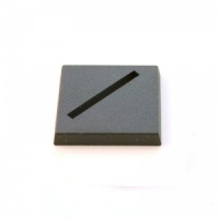 1 x Plastic Square Slotted Base (25x25mm)