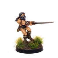 Barbarian attacking with two-handed sword