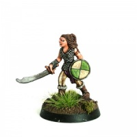 Female Fighter with Scimitar and Shield