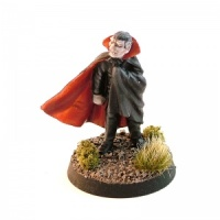 Vampire Gentleman with Wind-Blown Cloak