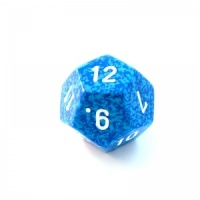 1x Water D12 (twelve-sided) Die