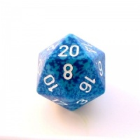 1x Water D20 (twenty-sided) Die