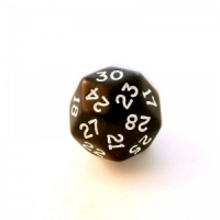 1x D30 (thirty-sided) Die