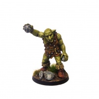 Groblin (Greater Goblin) with Small Rocks