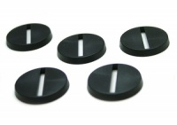 1 x Plastic Round Slotted Base (25mm)