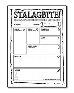 Stalagbite! 2nd Edition - Character Pad
