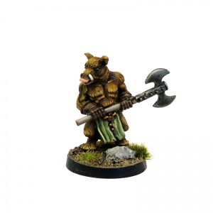 Boar Man with 2-Handed Axe