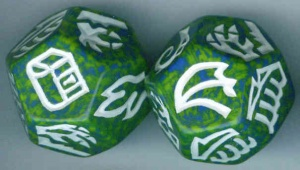 Dragon Dice - Blue/Gold Hybrid Dragons
