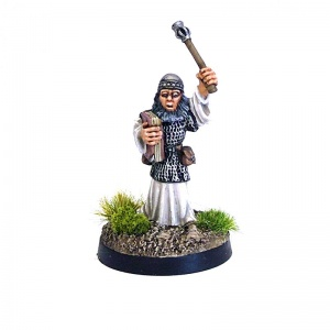 Cleric with Mace and Book