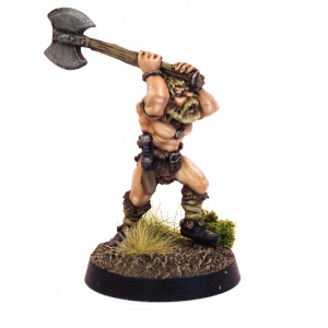Barbarian attacking with Axe