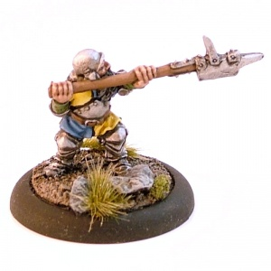 Dwarf with Pole-Weapon