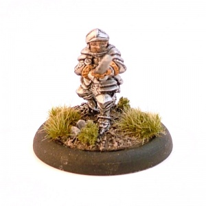 Dwarf with Plate Armour and Two-Handed sword.