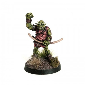 Orc with Bow and Raised Fist
