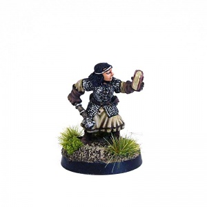 Female Cleric with Club and Book