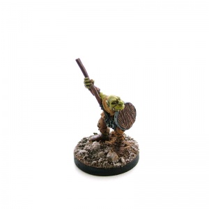 Goblin with Spear and Shield Raised