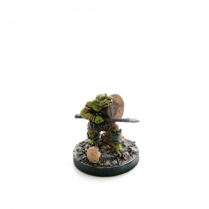 Goblin with Spear and Shield Advancing