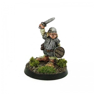 Halfling with Sword and Shield