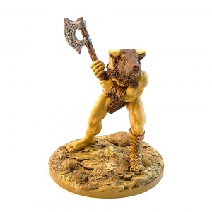 Minotaur with Raised Axe