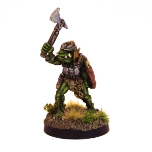 Orc Champion with Raised Axe