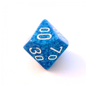1x Water D00 (twenty-sided) Die