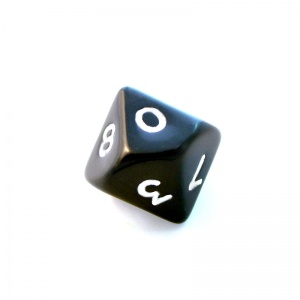 1x Black D10 (ten-sided) Die