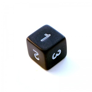 1x Black D6 (six-sided) Die