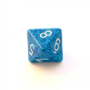 1x Water D8 (eight-sided) Die