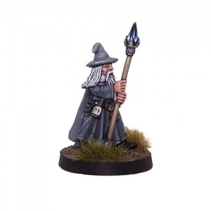 Dwarven Dark Mage with Staff
