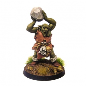Groblin (Greater Goblin) with Rock