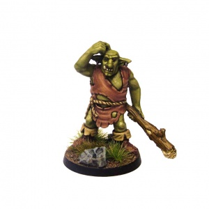 Groblin (Greater Goblin) with Tree Trunk