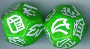 Dragon Dice - Green/Gold Hybrid Dragons