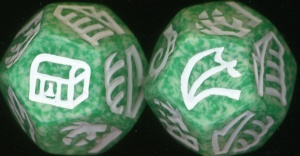 Dragon Dice - Ivory/Green Hybrid Dragons