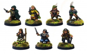 Halfling Adventurers (Pack of 7 Standing)