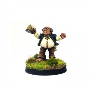 Halfling Drinking Beer