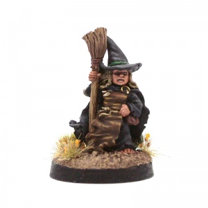 Halfling Witch #1 (With Broom)