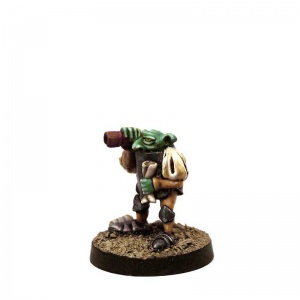 Imp with Telescope and Scroll