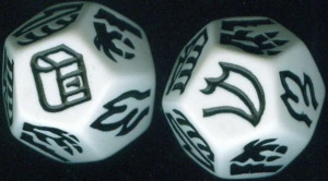 Dragon Dice - A Pair of White Dragons