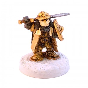 Dwarven Winter Explorer with Sword and Shield