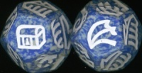 Dragon Dice - Blue/Ivory Hybrid Dragons