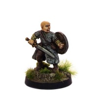 Bald Fighter with Sword