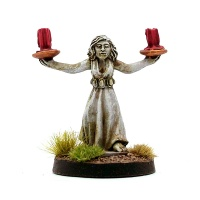 Female Servant / Statue holding Candles