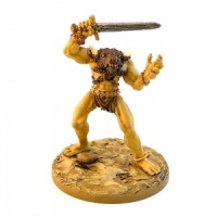 Minotaur with Raised Sword