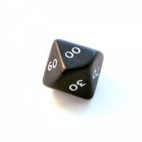 1x Black D00(ten-sided) Die