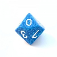 1x Water D10 (ten-sided) Die